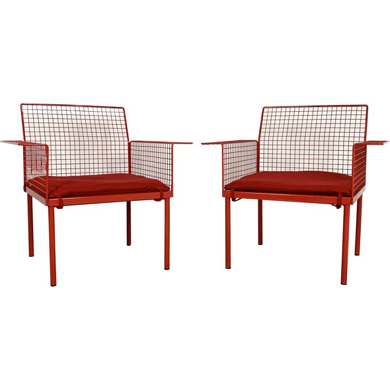 Pair of vintage armchairs from Evoluzione, 1980