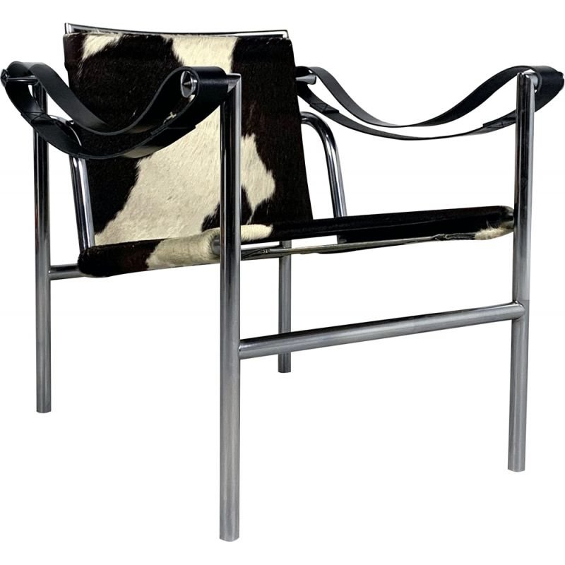 Vintage Cow Hide LC1 Armchair by Le Corbusier for Cassina, 1970s