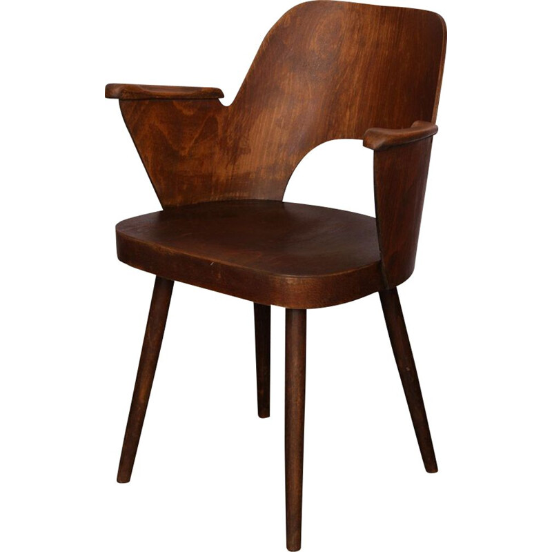 Vintage armchair by Lubomir Hofmann made by Ton, 1960