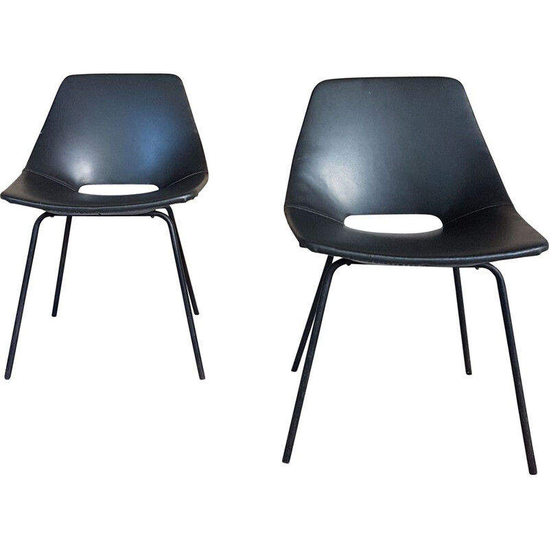 Pair of Vintage Chairs Amsterdam by Pierre Guariche for Steiner