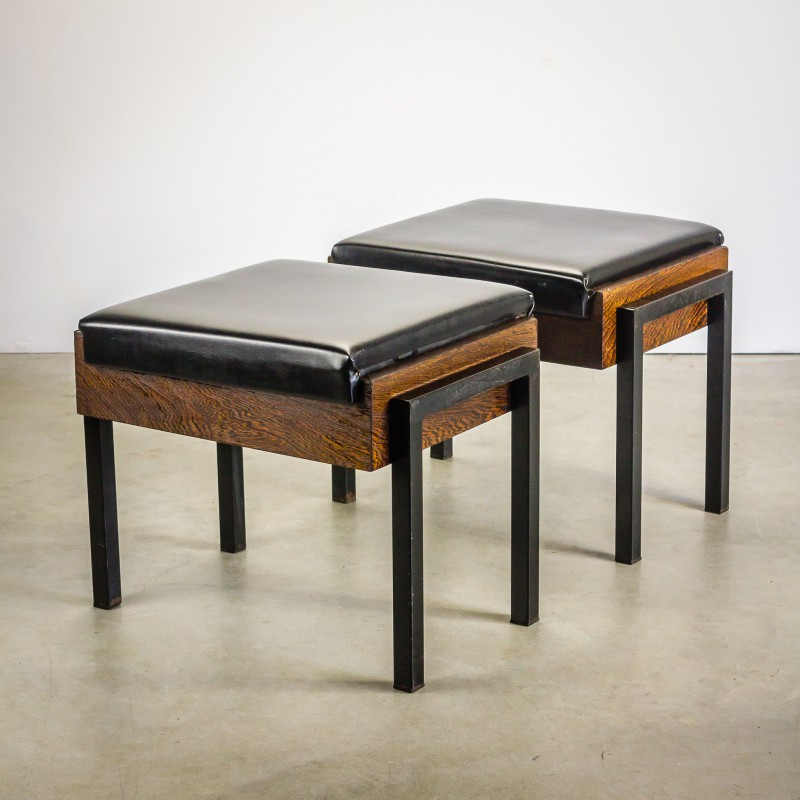 Pleasant Pair Of Dutch Church Stools In Wenge 1960S Camellatalisay Diy Chair Ideas Camellatalisaycom
