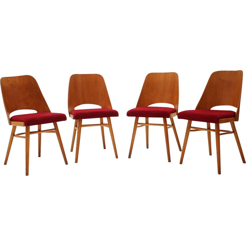 Set of 4 vintage dining chairs by Oswald Haerdtl, 1960