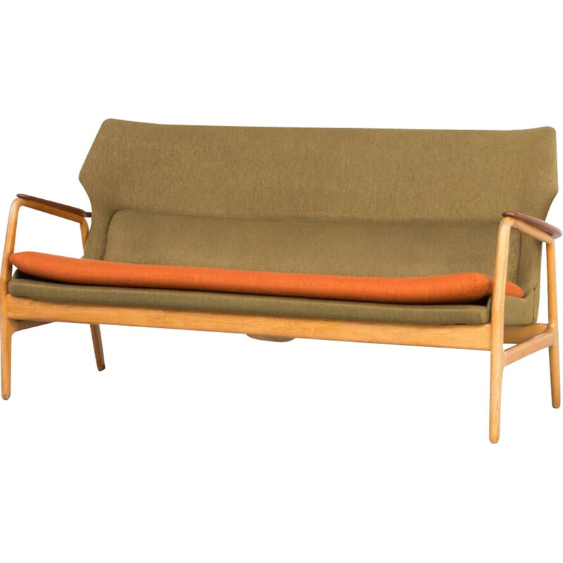 Vintage Aksel Bender Madsen wing back sofa for Bovenkamp 1960s