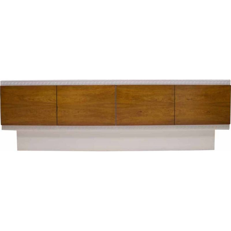 Large vintage White Walnut Veneer Sideboard, 1970s