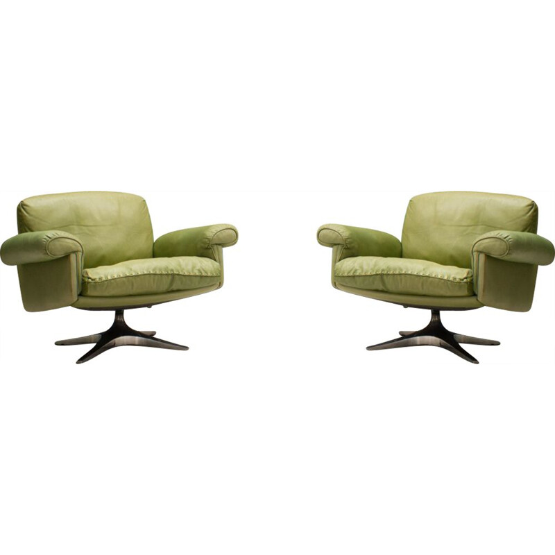 Pair of vintage Swiss DS31 Armchairs from de Sede, 1960s