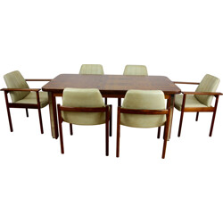 Mid-century dining set in rosewood, Sven I. DYSTHE - 1960s