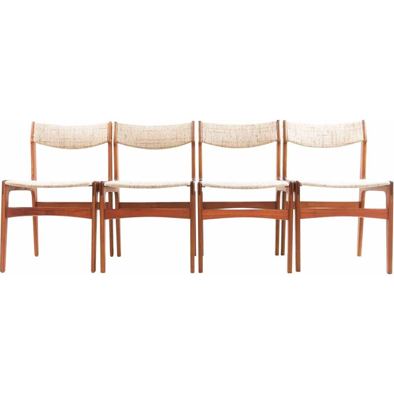 Set of 4 vintage Erik Buch Teak Dining Chairs Danish 1960s