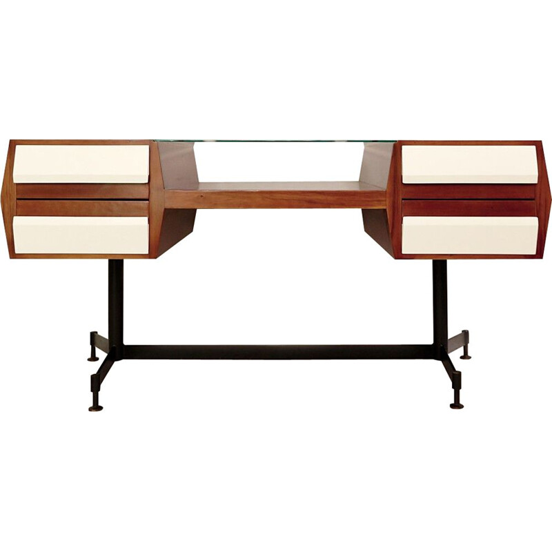 Vintage Double Face desk, Italy, 1960