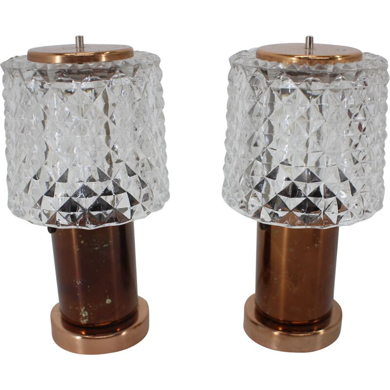 Pair of  vintage Table Lamps by Kamenicky Senov, 1970s
