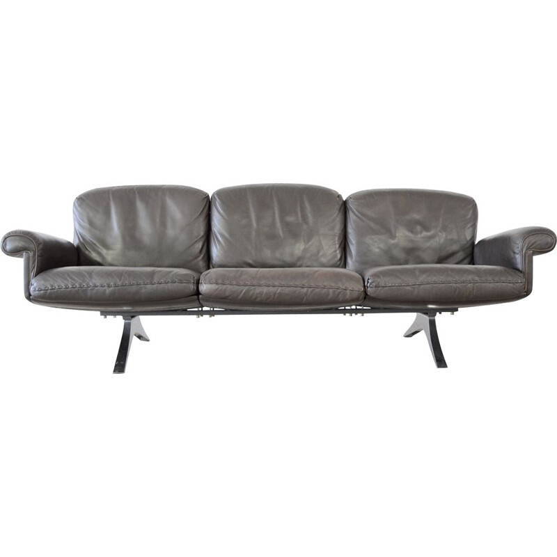 Vintage sofa De Sede ds31 brown 3 seater leather