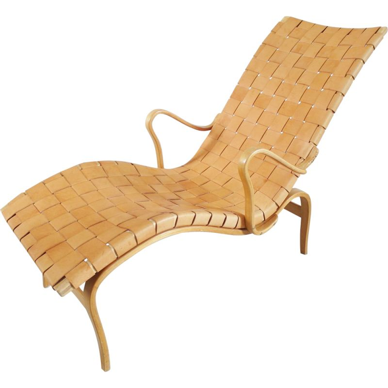 Vintage chaise longue produced by Karl Mathsson, Sweden 1942