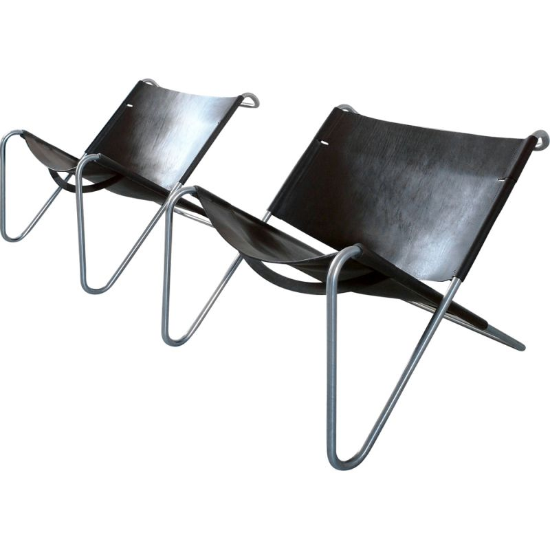 Vintage Kwok Hoi Chan Pair of Sz15 Lounge Chairs for 't Spectrum Netherlands, 1973