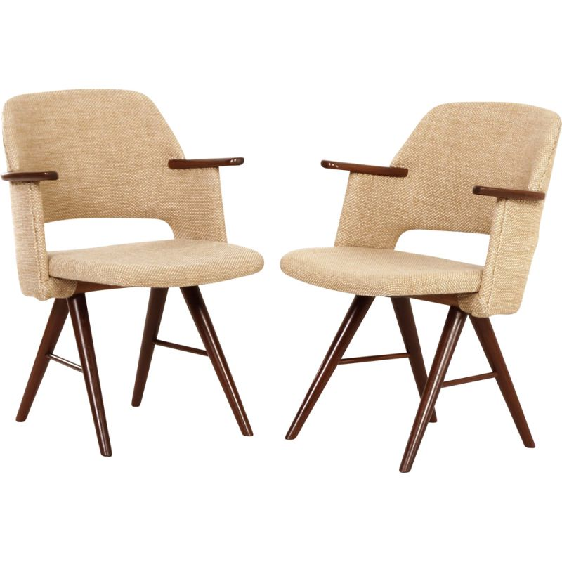 Pair of vintage FT30 Dining Arm Chairs by Cees Braakman for Pastoe, 1950s