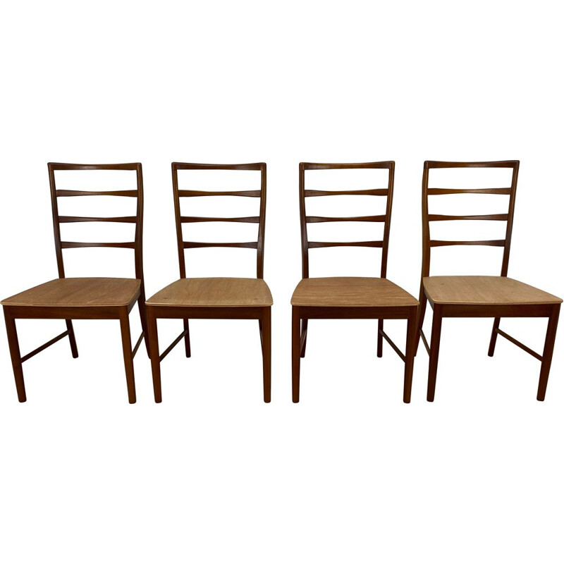 Set of 4 Mid Century Dining Chairs  by A.H .Macintosh