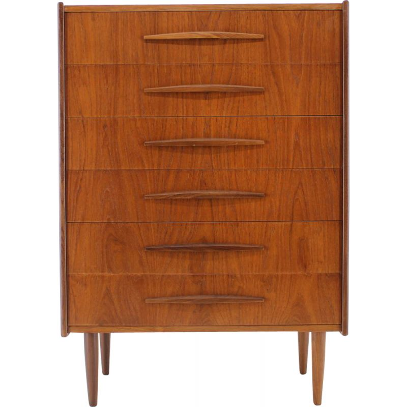 Vintage teak chest of drawers Danish 1960