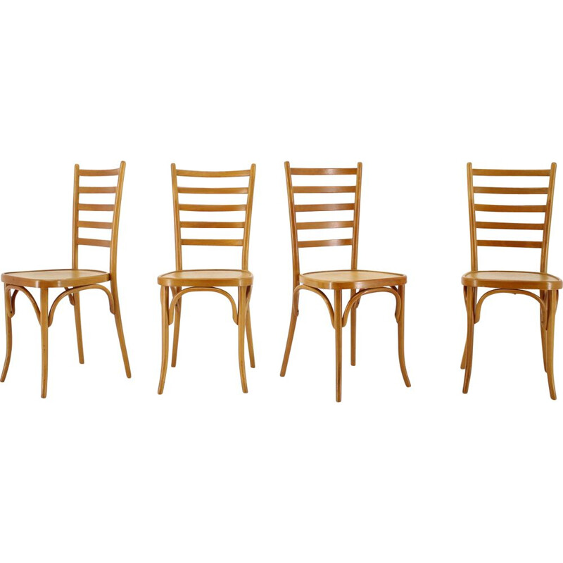 Set of 4 vintage Dining Chairs Italian 1970s