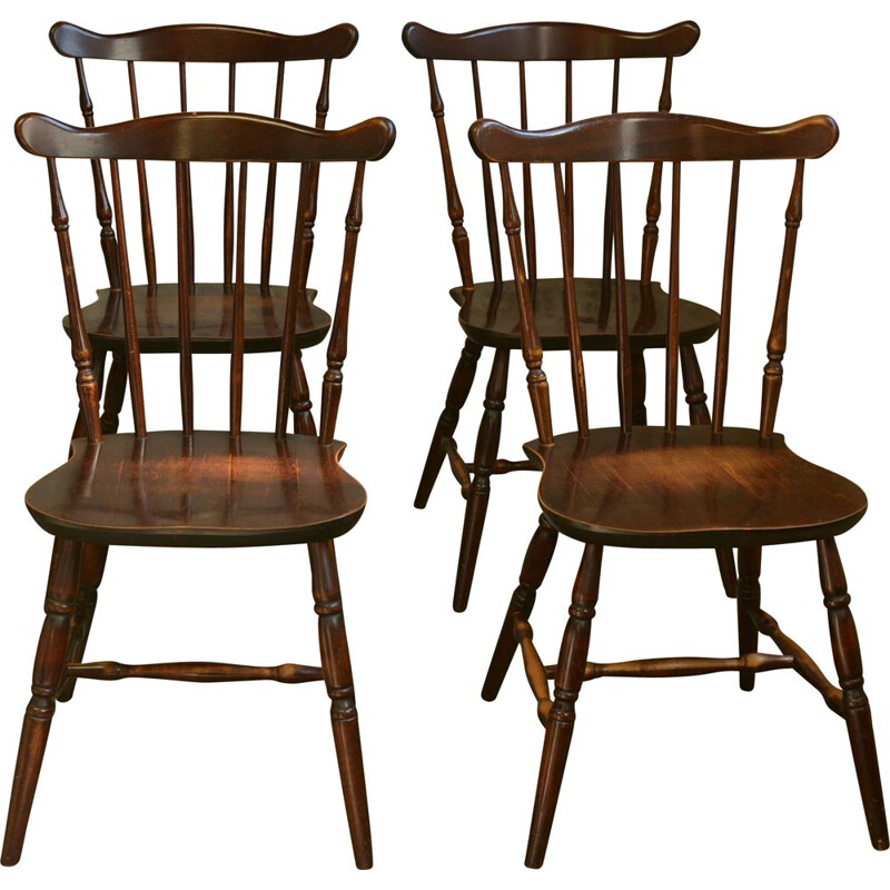 4 Vintage Swedish bistro chairs 1970