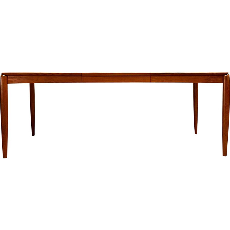 Mid Century Teak Extendable Dining Table H.W. Klein for Bramin Danish