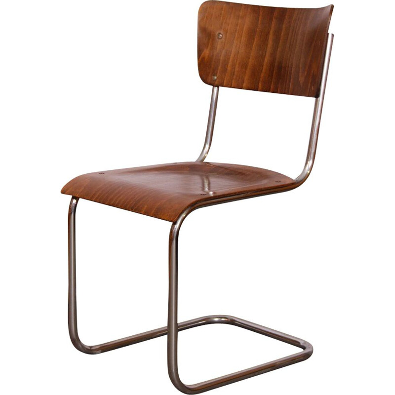 Vintage metal chair by Mart Stam 1940
