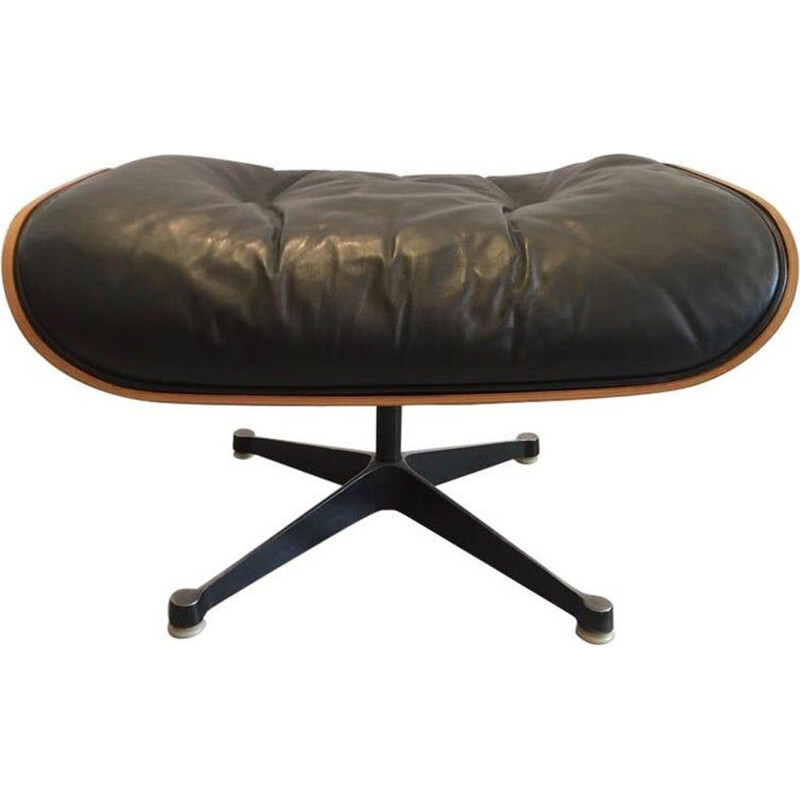 Vintage  Lounge Chair leather and rosewood ottomanCharles & Ray Eames 1970