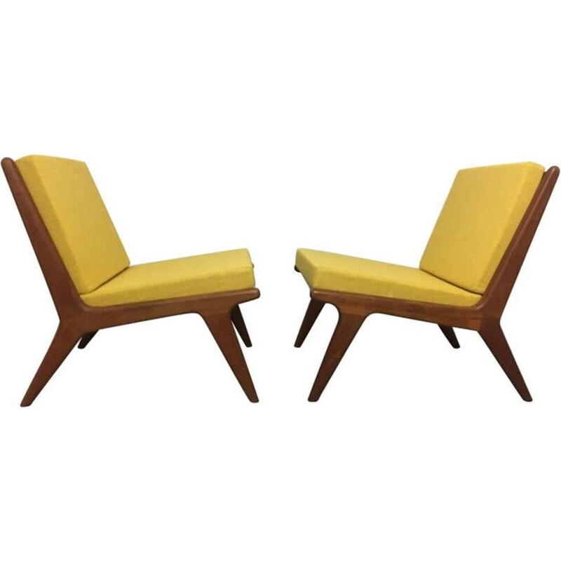 Pair of vintage teak armchairs Danish 1960