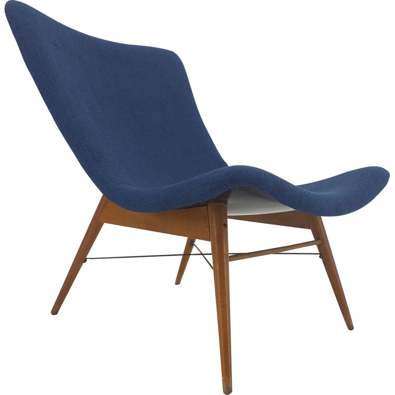 Midcentury Lounge Chair by Miroslav Navratil, 1960s