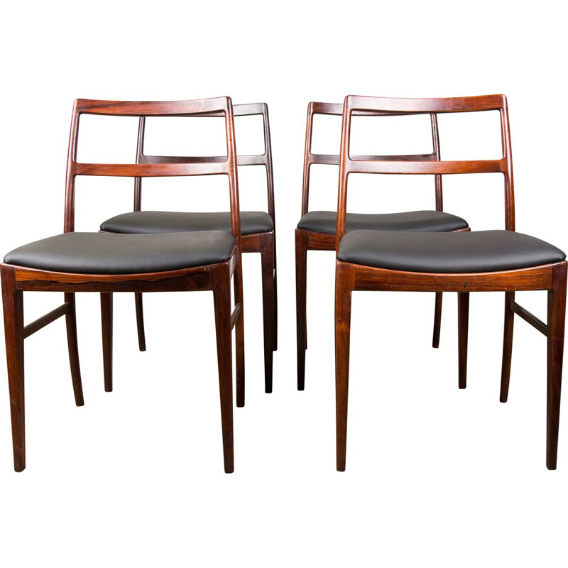 Set of 4 vintage Rio Rosewood chairs model 420 by Arne Vodder Danish 1960