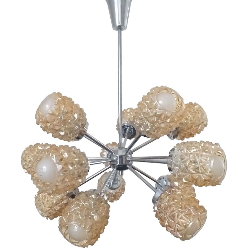 Mid Century Atomic Sputnik Chandelier, Germany, 1970s