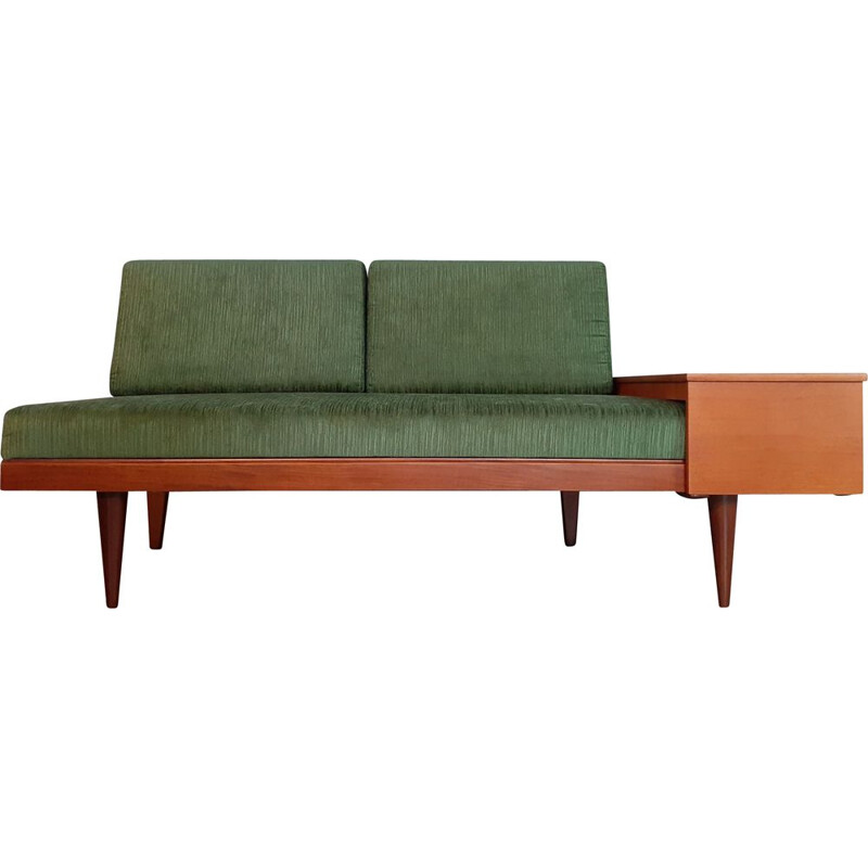 Vintage Norwegian Sofa Bed Green 1960