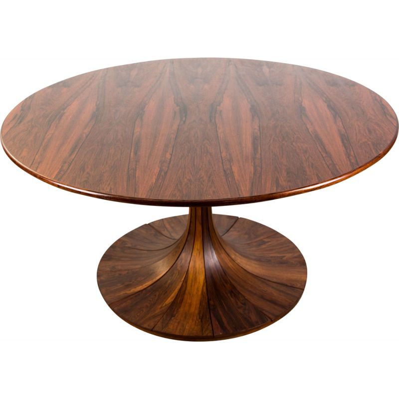 Vintage 130cm Rio Tulip Rosewood Dining Table by Karl Erik Ekselius Sweden 1960