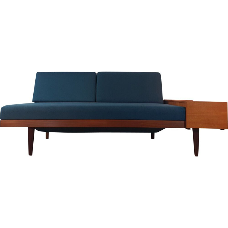 Vintage Daybed blue Ingmar Relling style, Norwegian 1960s