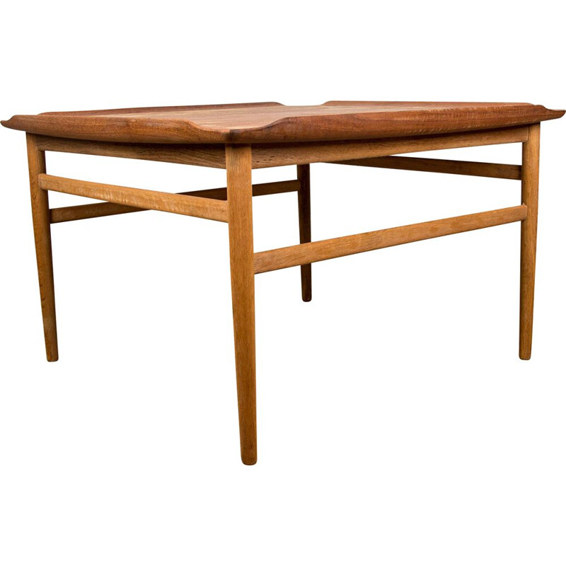 Vintage Teak Coffee Table by Folke Ohlsson for Swedish Tingstroms 1960
