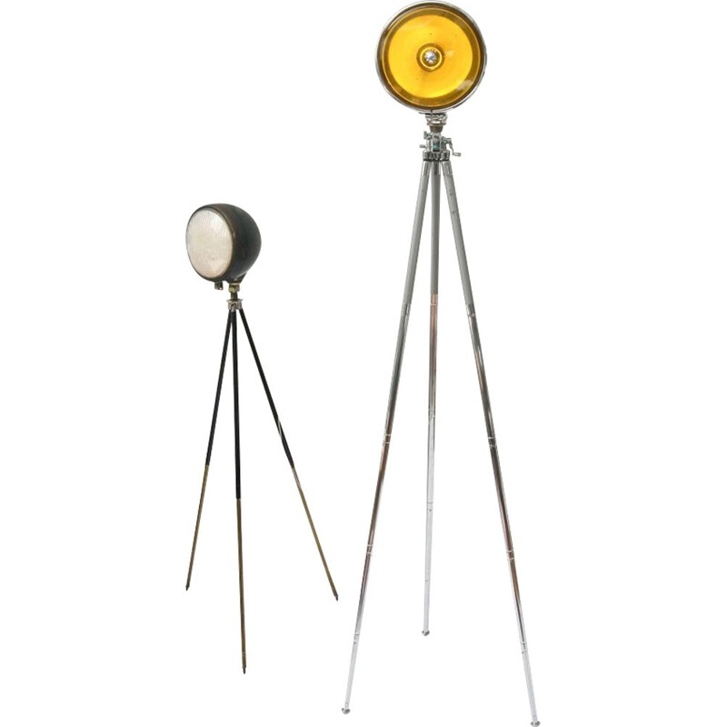 Vintage Tripod yellow lamp 1960s