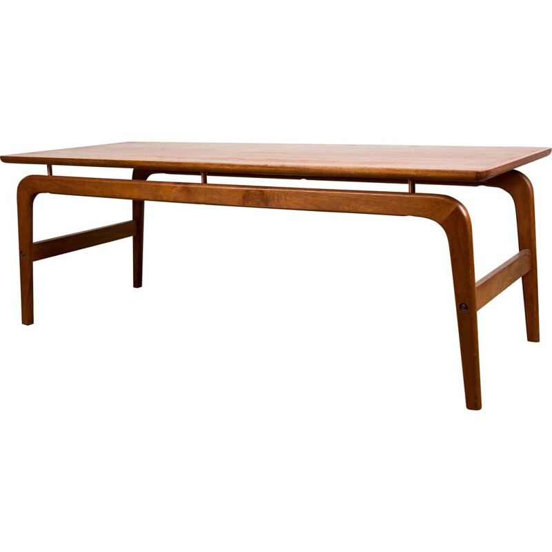 Large Vintage Teak Coffee Table by Arne Hovmand Olsen for Danish Mogens Kold 1960