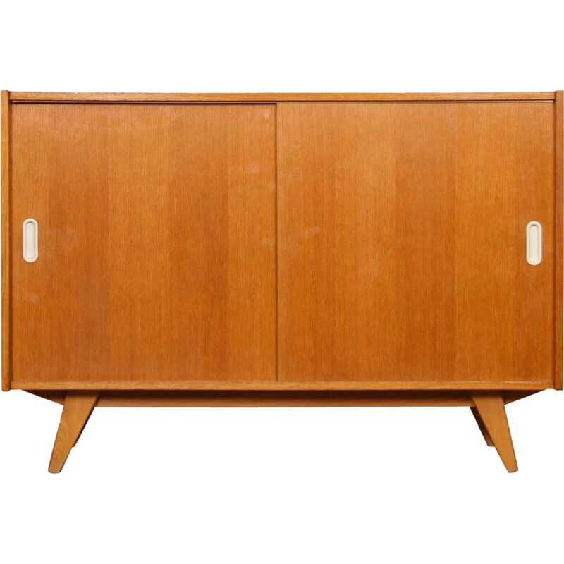 Vintage oak chest of drawers, model U-452, by Jiri Jiroutek for Interier Praha, 1960