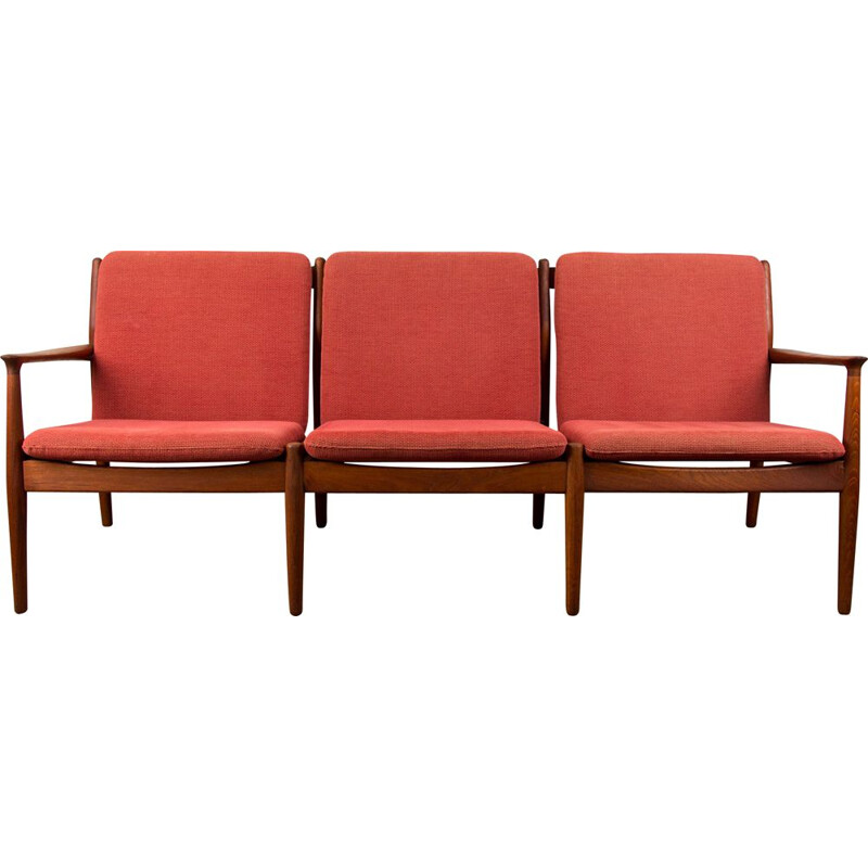 Vintage 3 seater Teak sofa by Svend Age Eriksen for Glostrup Danish 1960