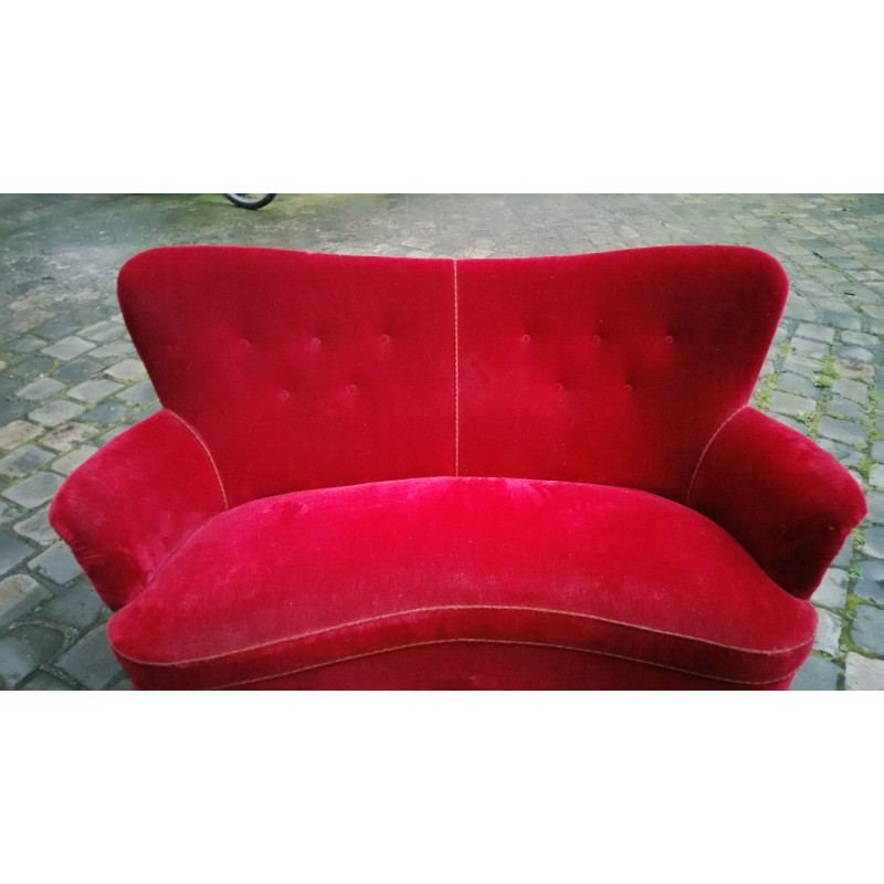 Sofa Beds East Kilbride: Red 2 Seater Sofa Red Cover Slipcover To Fit Ikea Klippan