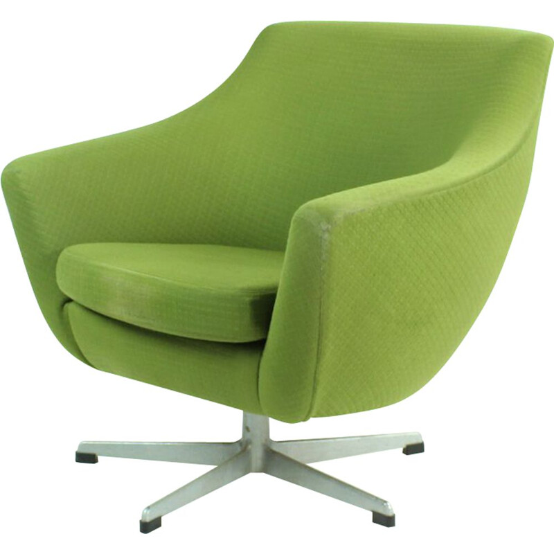 Midcentury Green Club Chair By Up Zavody, Czechoslovakia 1979