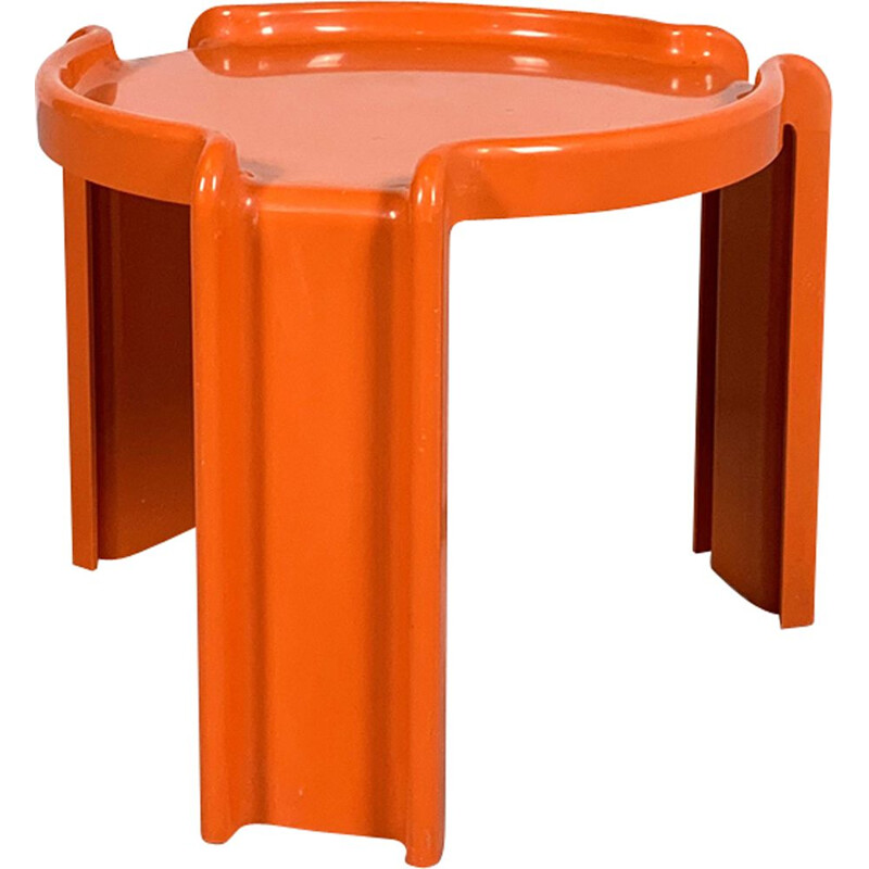 Vintage Orange Side Table by Giotto Stoppino for Kartell, 1970s