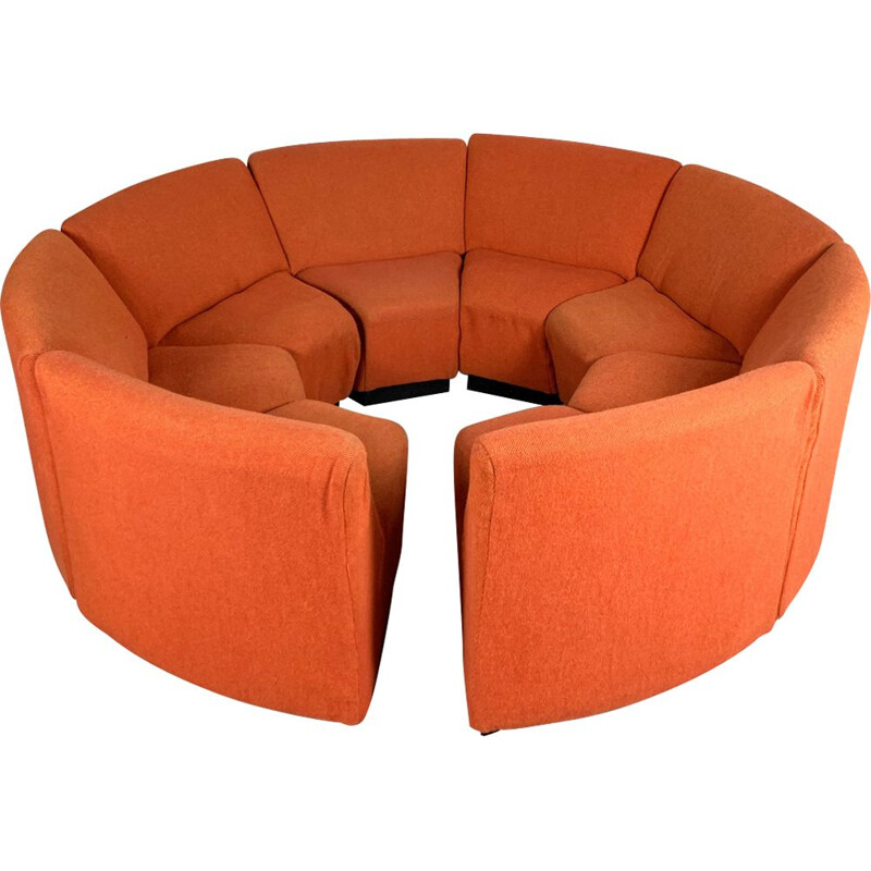 Vintage Modular Seating Group of 8 elements from the seventies