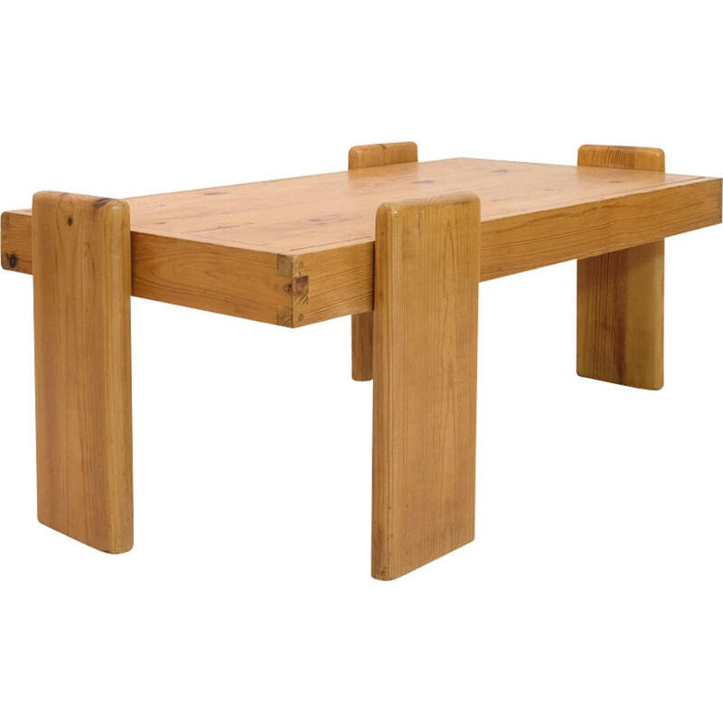 Vintage coffee table in solid pine 1970