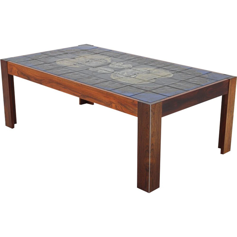 Vintage Tile Coffee table by Mobelintarsia, Denmark 1960s