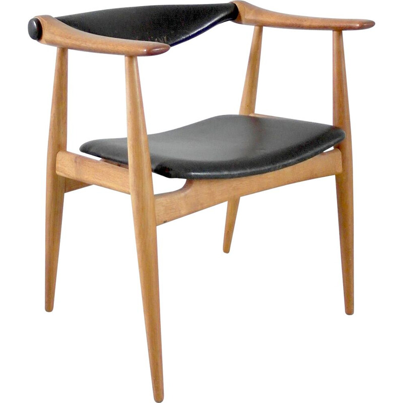 Vintage CH34 Yoke Chair for Carl Hansen, Hans Wegner Denmark, 1959