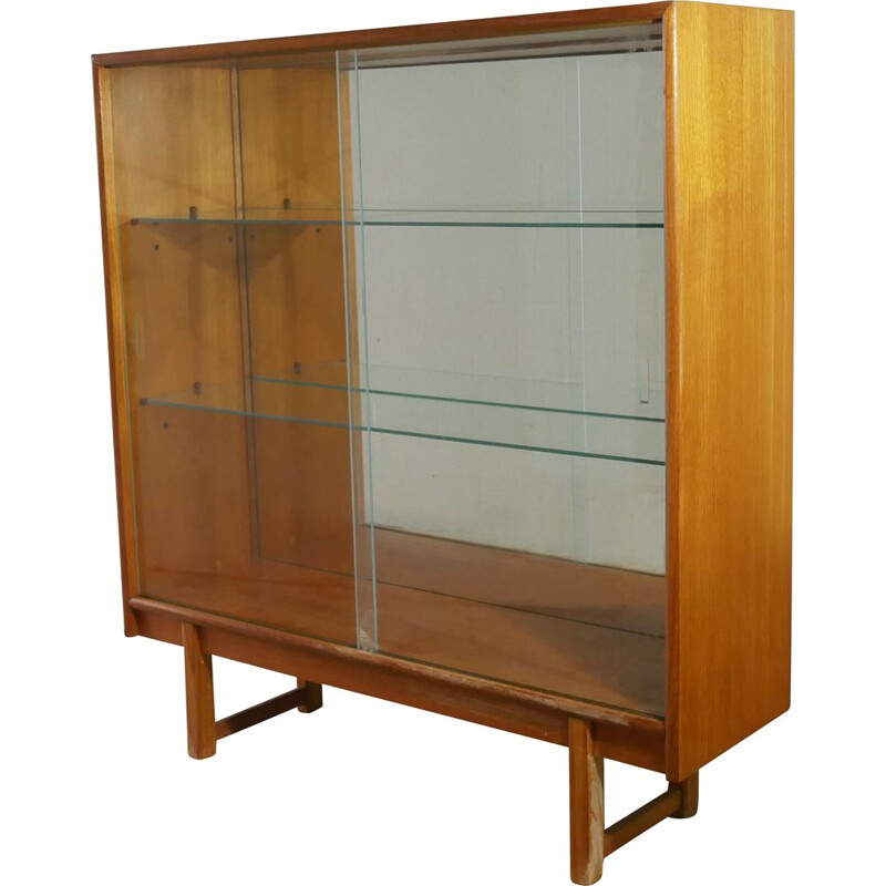 Mid century mirror backed display cabinet  book case 1960s