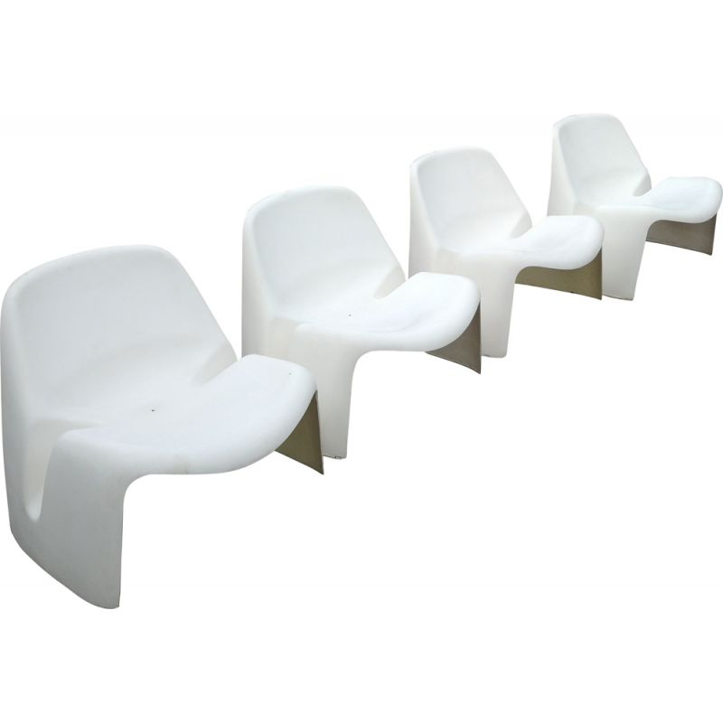 Set of 4 vintage chairs from Colani Luigi Colani's 1967