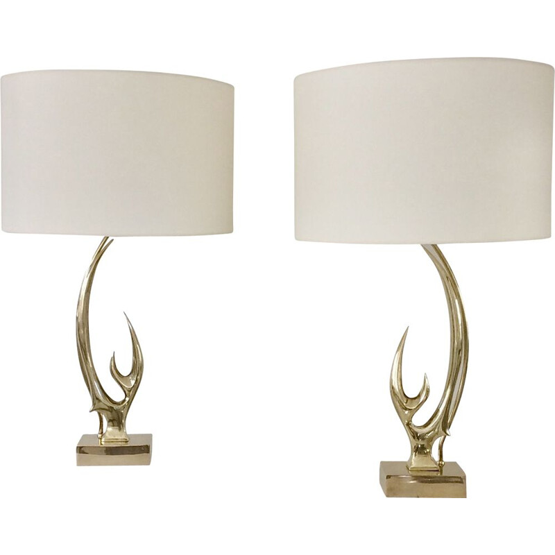 Pair of Vintage Sculptural Lamps by Willy Daro, Belgium 1970