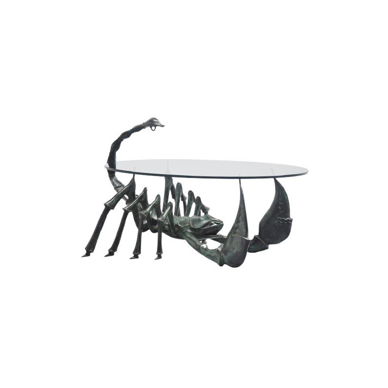Scorpion coffee table Jacques Duval-Brasseur France 1970