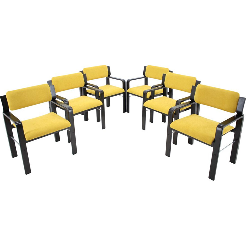 Set of 6 vintage dining  office chairs by Ludvik Volak 1960s