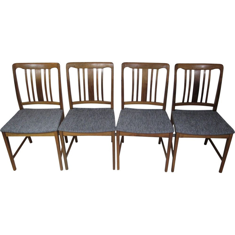 Set of 4 vintage Chairs, Denmark, 1960s