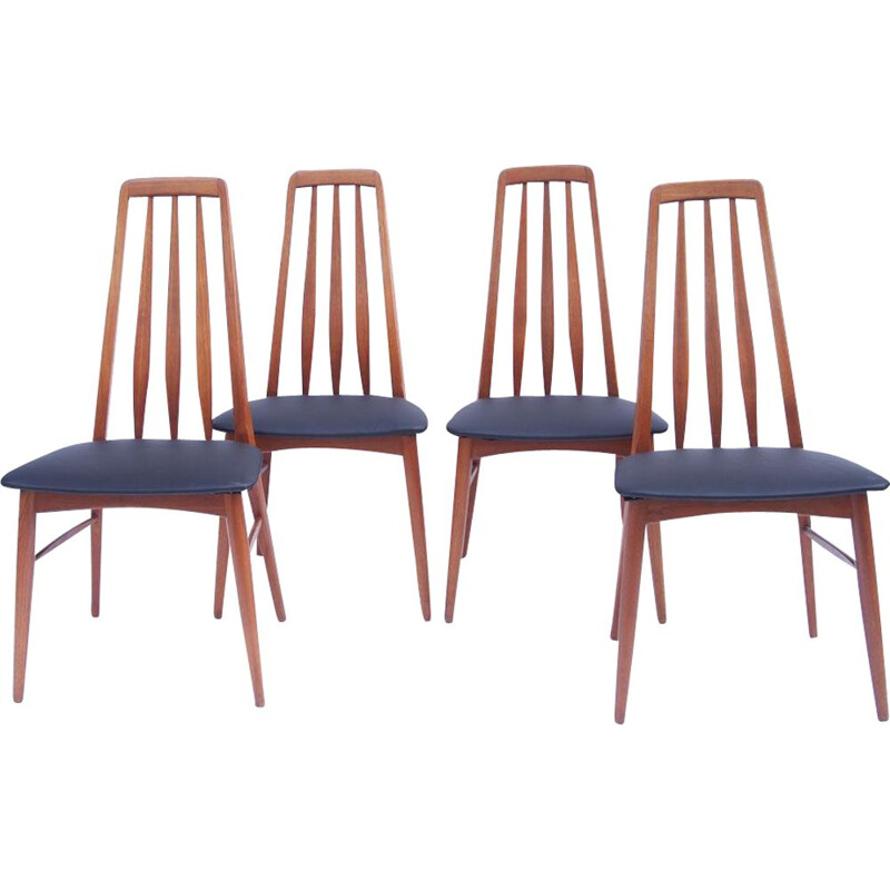Set of 4 vintage KOEFOEDS Danish chairs 1960